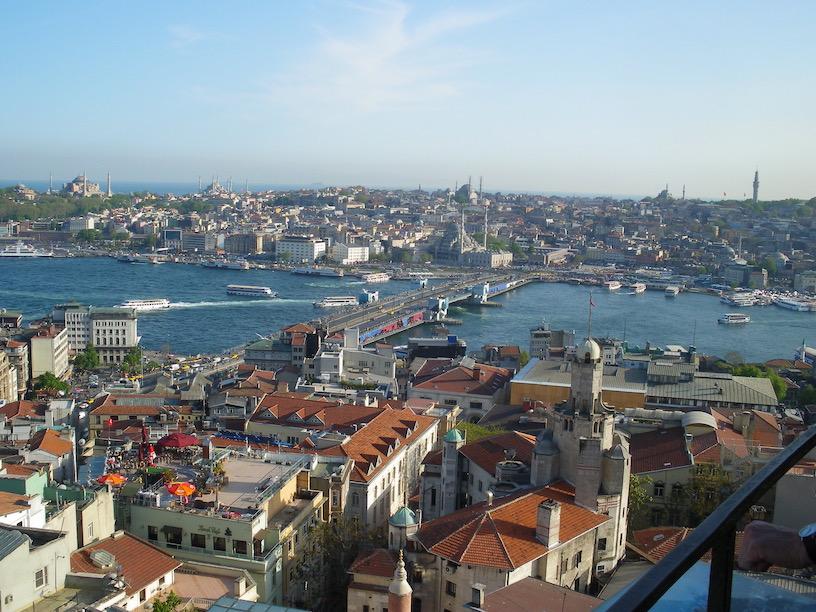 Istanbul Sehenswürdigkeiten Galata-Kulesi Blick vom Galataturm Istanbul Türkei
