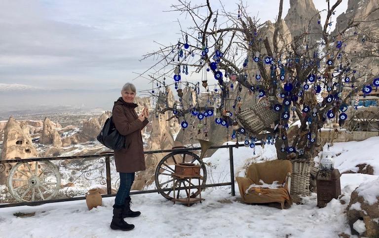 Kappadokien im Schnee in Uchisar