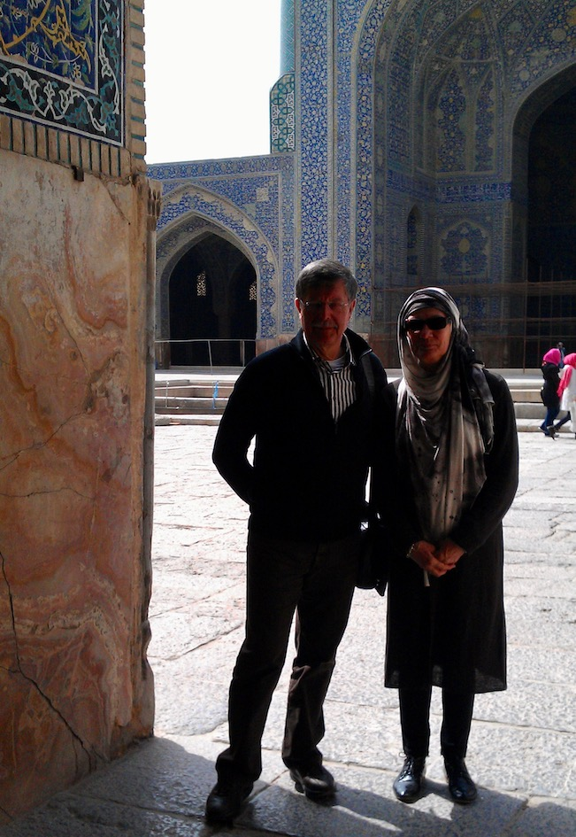 In der Lotfollah-Moschee in Isfahan