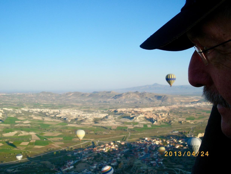 Kappadokien Sehenswürdigkeiten Heißluftballon-Fahrt über die Feenkamine Türkei ganz oben