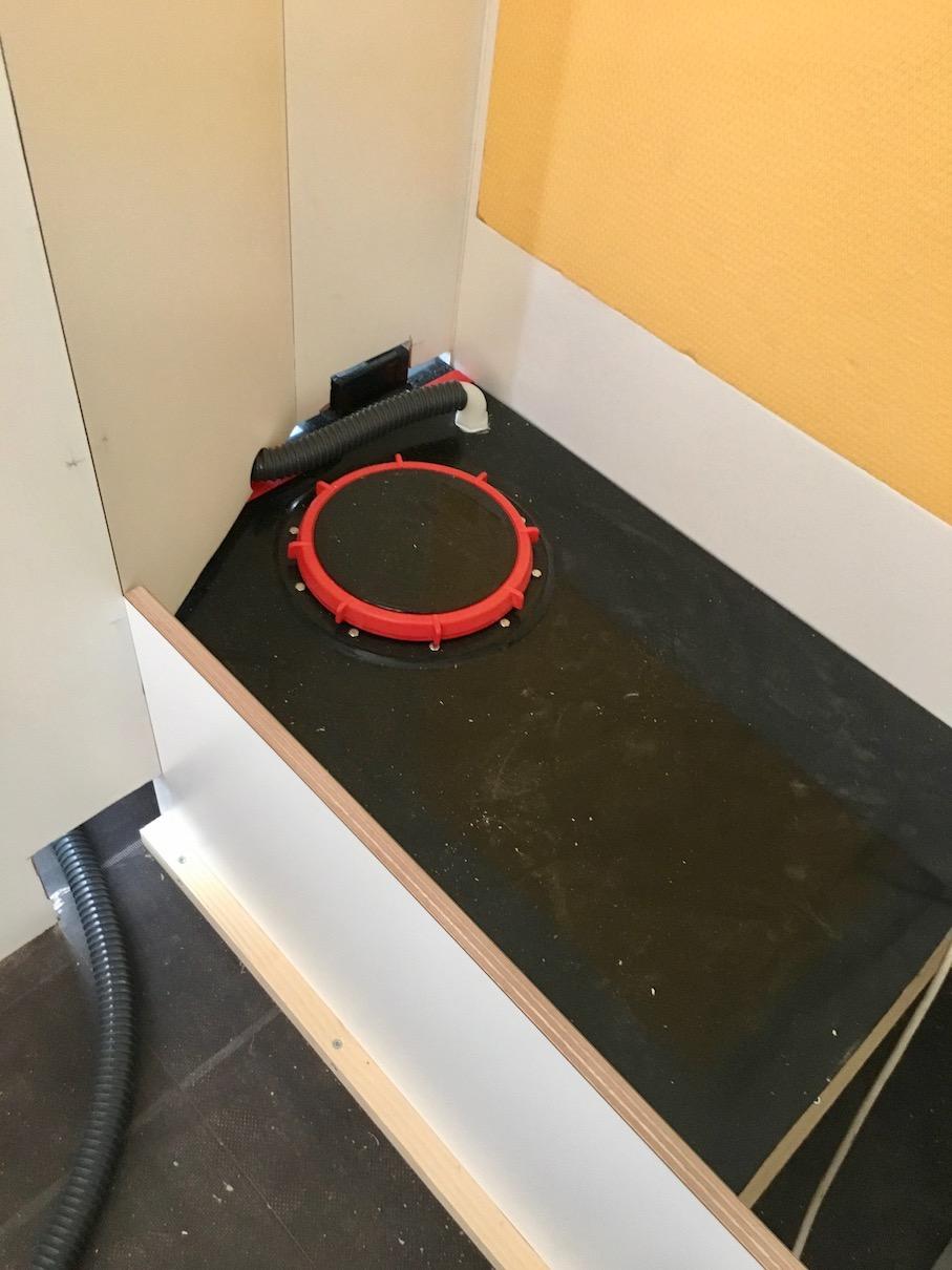 Abwassertank fürs Bad im Wohnmobile