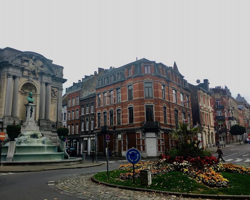 Verviers Historische-Altstadt in Wallonien Belgien Fontaine Ortmanns in Verviers-Belgien