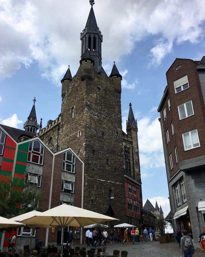 Aachen UNESCO-Weltkulturerbe Aachener Dom Kaiserdom Aachener-Altstadt am Rathaus von Aachen