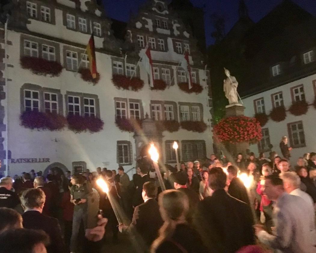 Fackelzug zum Lullusfest 2018 in Bad Hersfeld