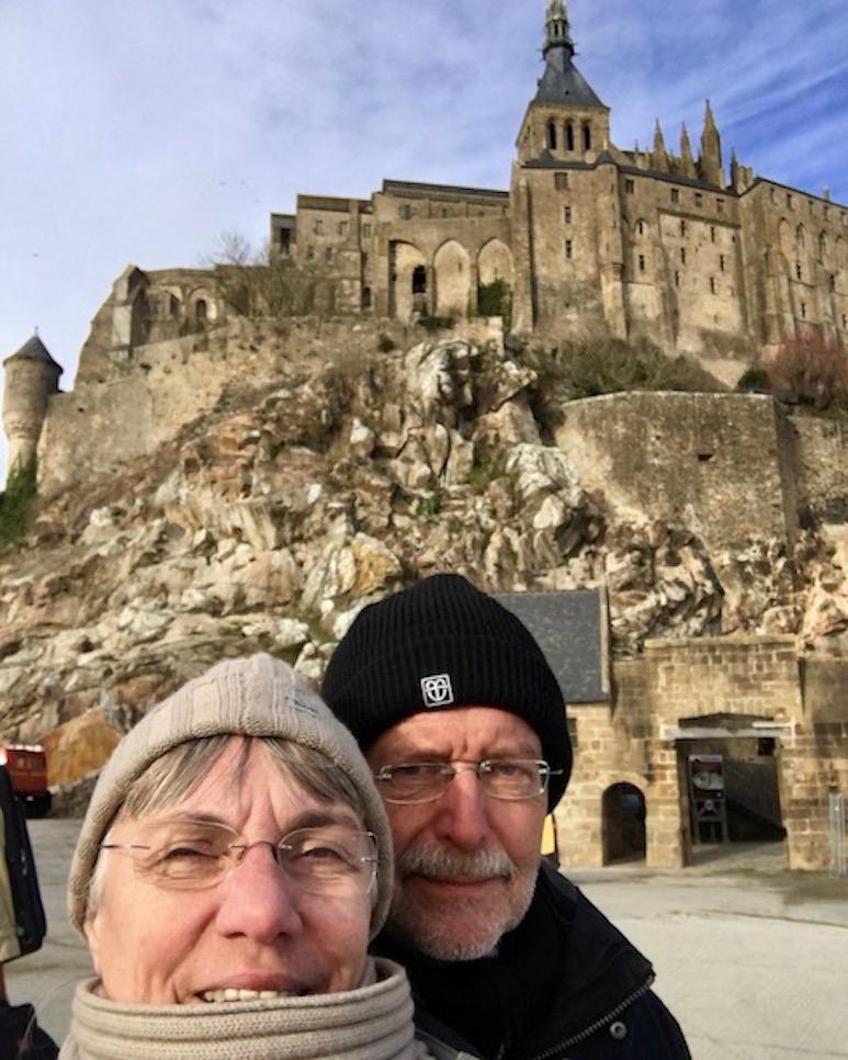 Abschied vom Le Mont-Saint-Michel Normandie Frankreich Weltkulturerbe