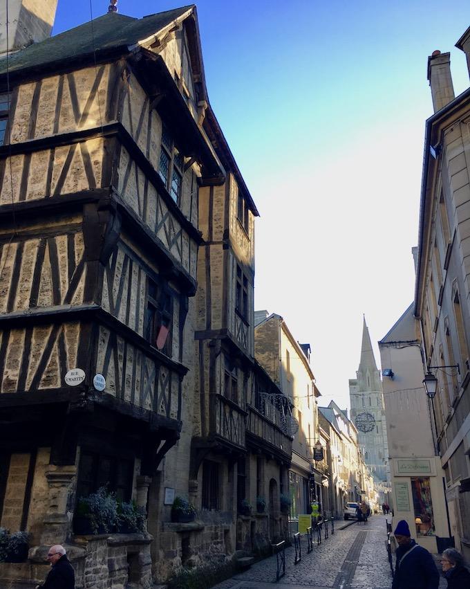Altstadt Kathedrale Notre-Dame-de-l'Assomption Bayeux Normandie Frankreich