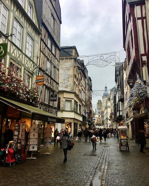 Altstadt Fussgängerzone Rouen Normandie Frankreich
