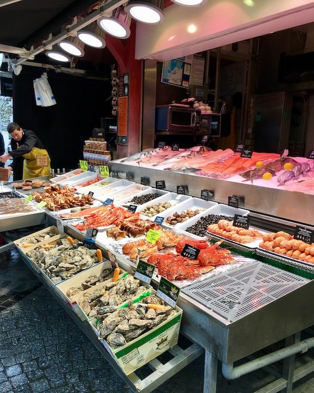 Angebot in Fischhalle Trouville-sur-Mer Normandie Frankreich