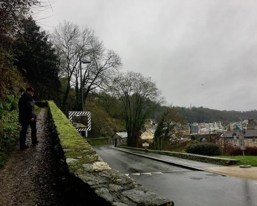 Aufstieg nach Dinan Bretagne