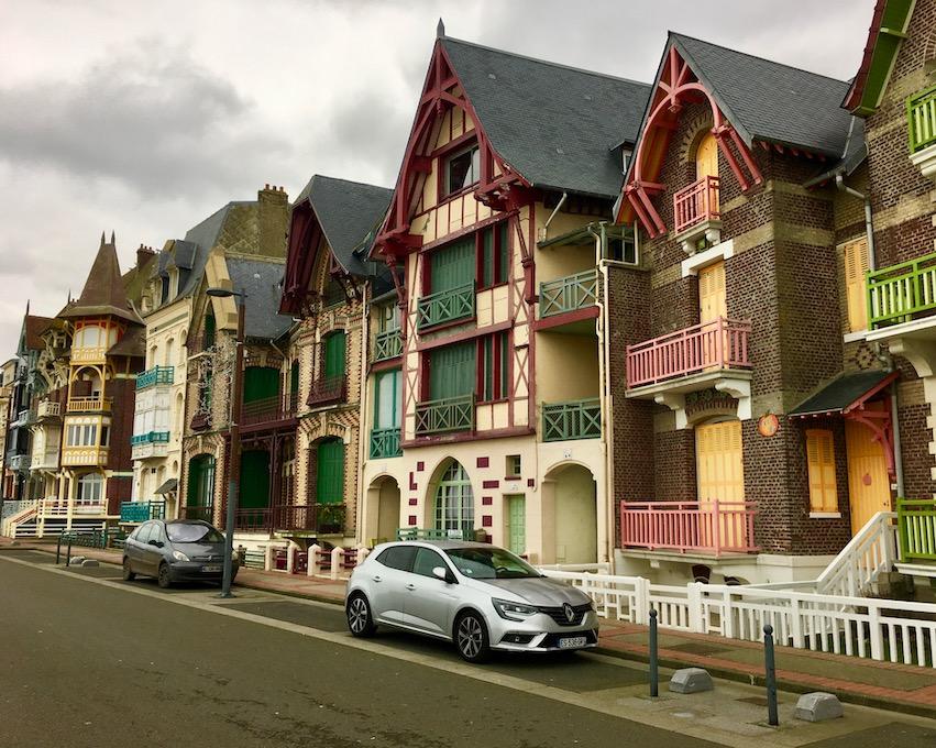 Mers-les-Bains alte Villen-Architektur aus 19.Jahrh.  bei Le Tréport Normandie Frankreich