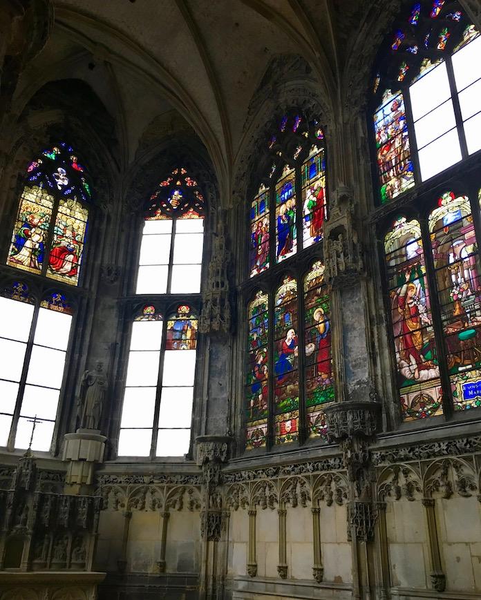 Innenraum Église Saint-Jacques  in Dieppe Normandie Frankreich