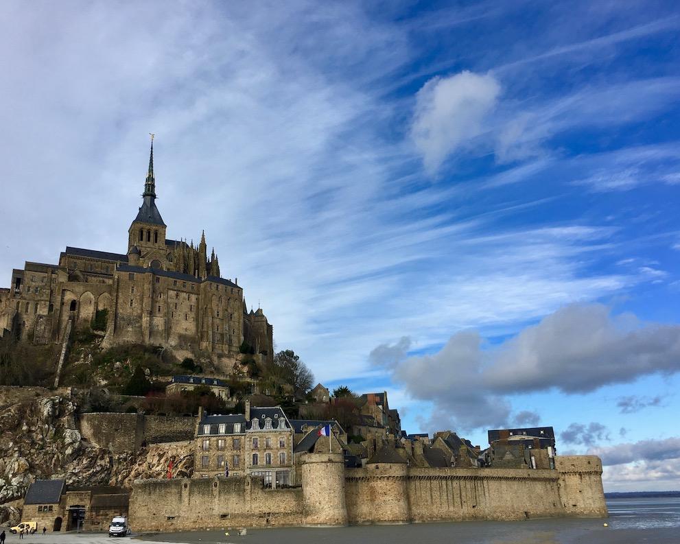 Blick zurück auf dem Mont-Saint-Michel