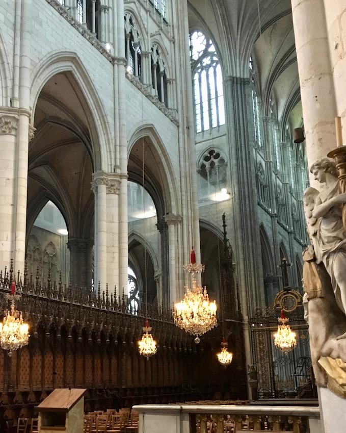 Chorgestühl Kathedrale Notre-Dame von Amiens Normandie Frankreich Weltkulturerbe