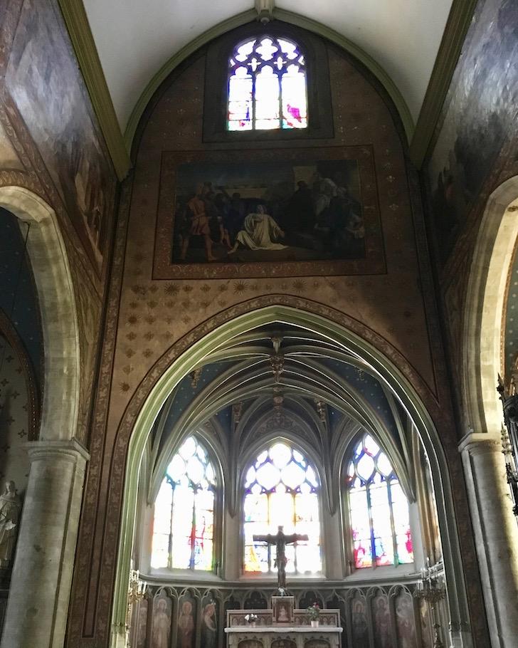 Chorfresken Église Saint-Étienne in Fécamp Normandie Frankreich