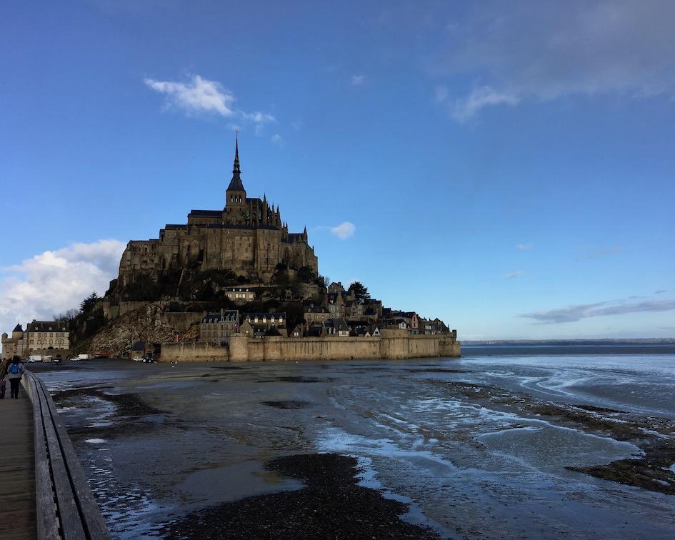 Ebbe am Le Mont-Saint-Michel Normandie Frankreich Weltkulturerbe