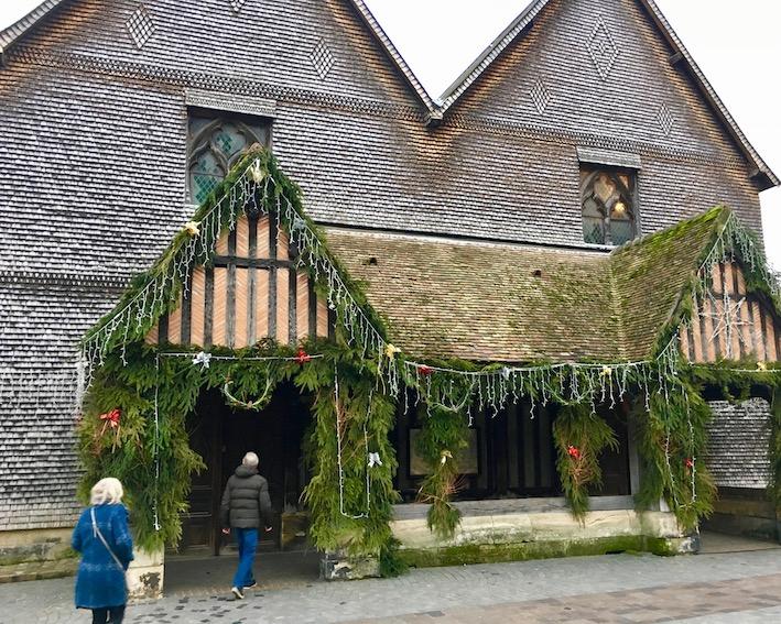 Eingang Holzkirche Saint-Catherine Honfleur Normandie Frankreich