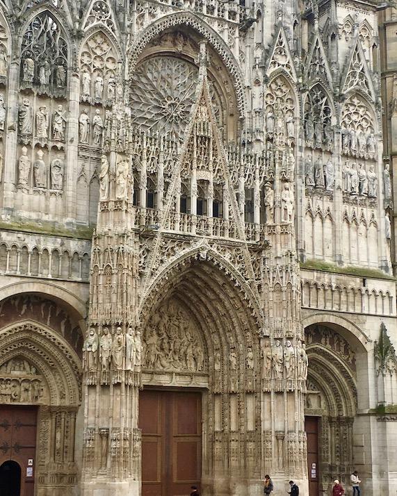Eingangsportal Kathedrale Notre-Dame Rouen Normandie Frankreich
