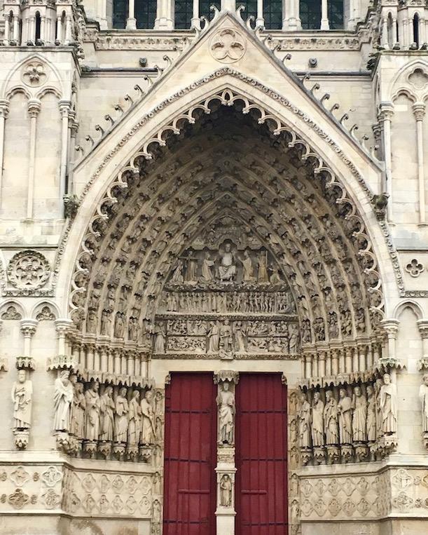 Mittelportal Kathedrale Notre-Dame von Amiens Normandie Frankreich Weltkulturerbe
