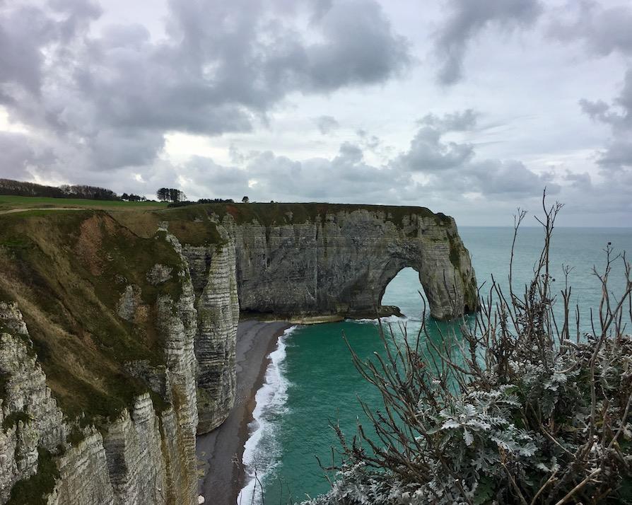 Falaise la Manneport in Étretat Normandie Frankreich