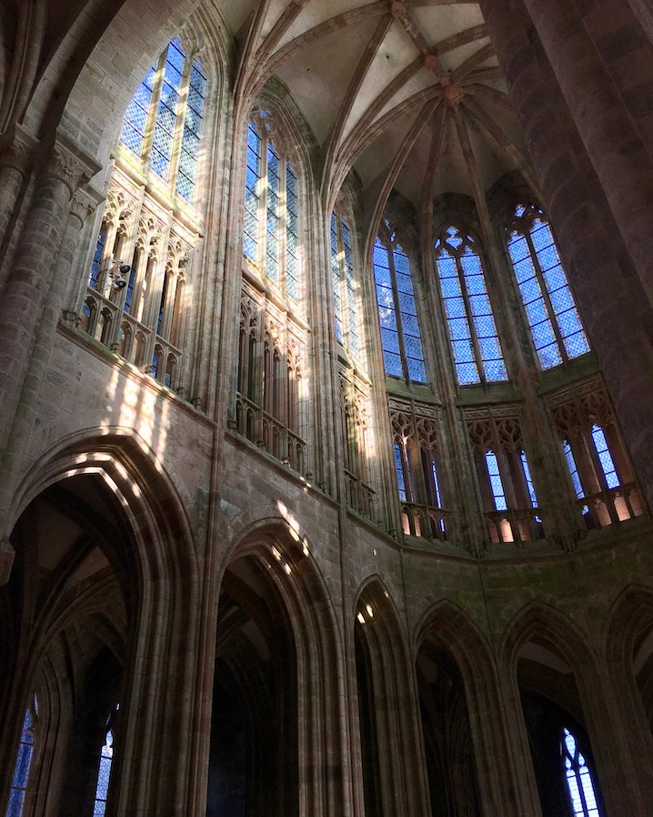 Gotischer Chor der Abteikirche Le Mont-Saint-Michel Normandie Frankreich Weltkulturerbe