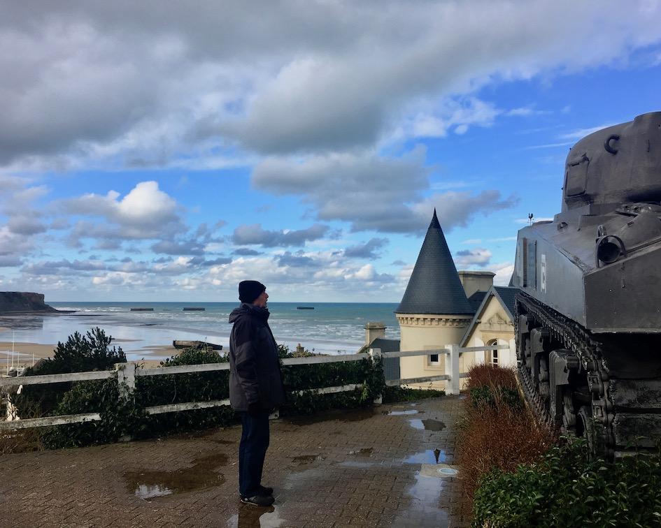 Hafen Arromanches-les-Bains Normandie Frankreich