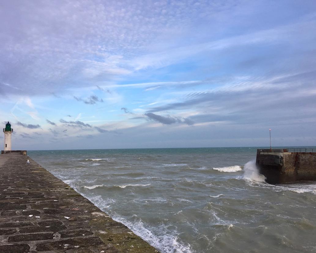 Hafeneinfahrt in Saint Valery-en-Caux Normandie Frankreich