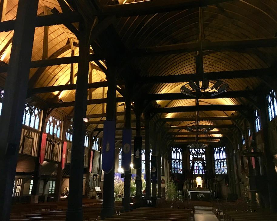 Innenraum Sainte-Catherine Honfleur Normandie Frankreich