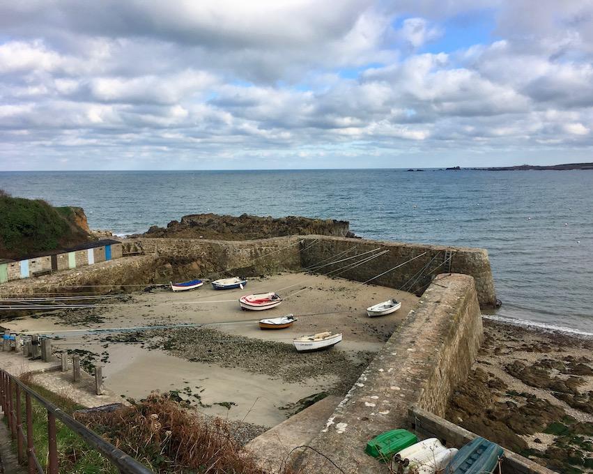Port Racine kleinster Hafen Frankreichs Cap-La-Hague Cotentin Normandie Frankreich