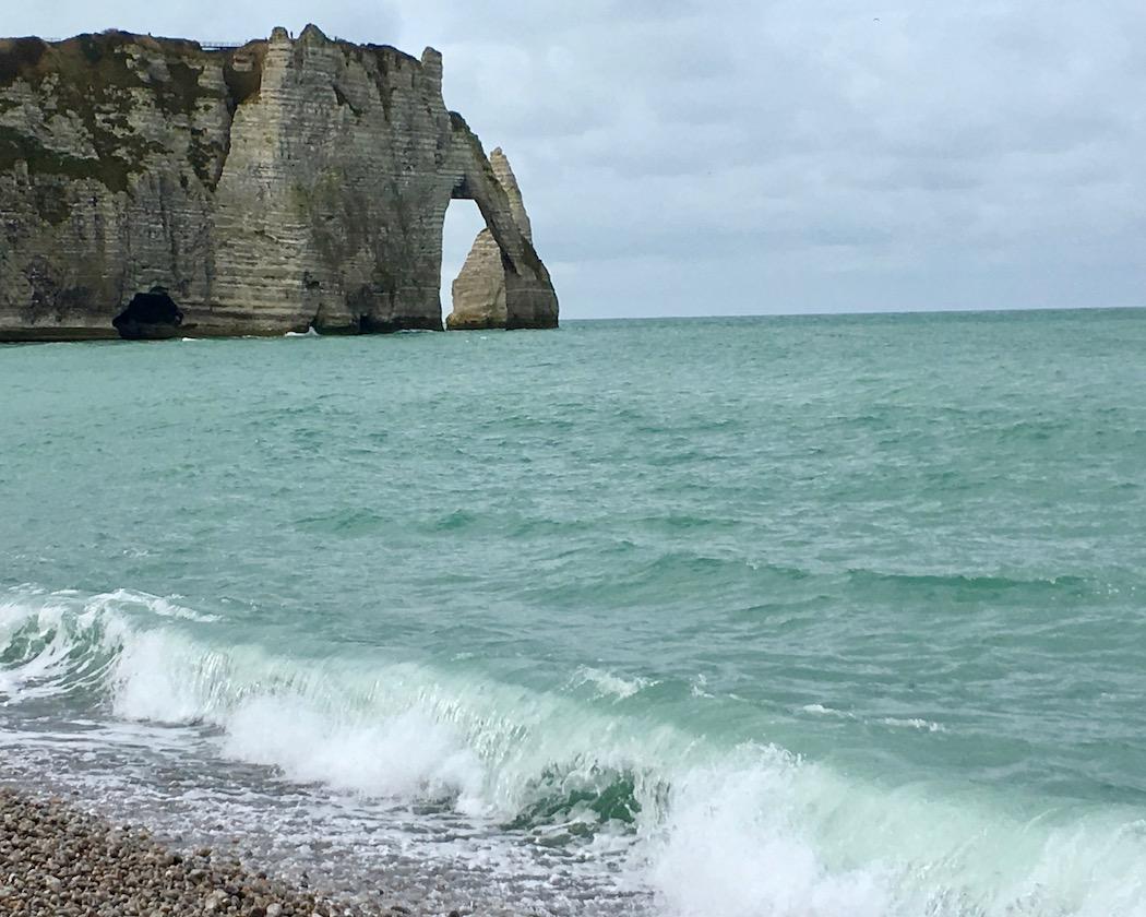 Kreidefelsen Port d'Aval in Étretat Normandie Frankreich