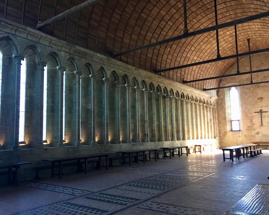 Refektorium Le Mont-Saint-Michel Normandie Frankreich Weltkulturerbe