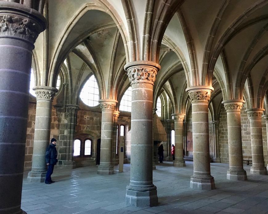 Rittersaal Le Mont-Saint-Michel Normandie Frankreich Weltkulturerbe