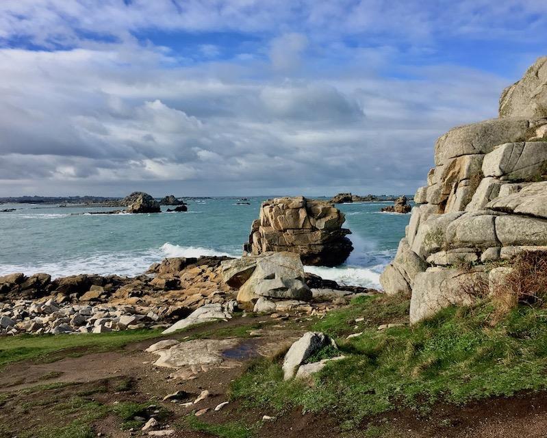 Rosa-Granitküste  Plougrescant La-Côte-de-Granit Rose Bretagne Frankreich