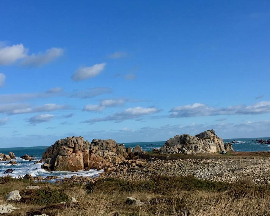 Rosa-Granitküste Bretagne La-Côte-de-Granit-Rose  Plougrescant Bretagne Frankreich