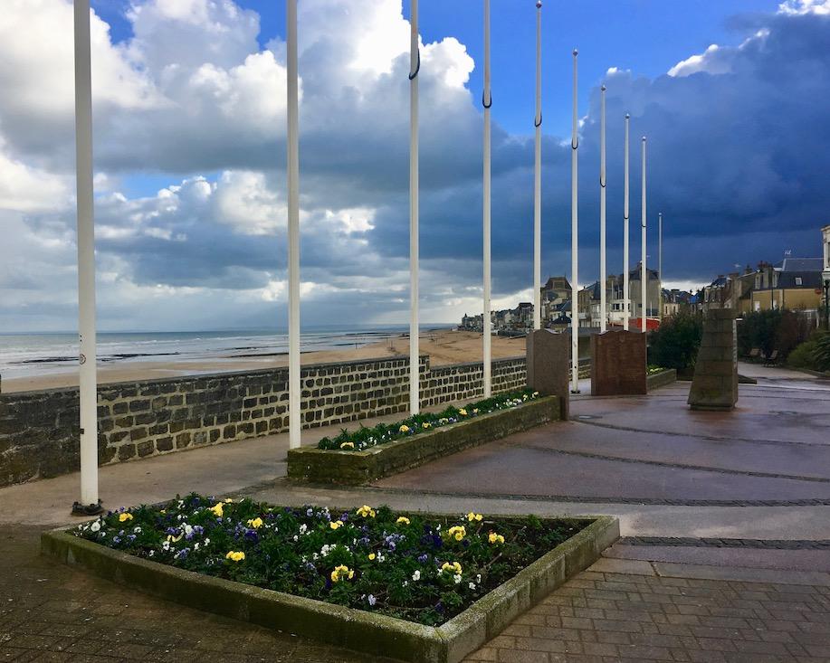 Promenade Saint-Aubin-sur-Mer Normandie Frankreich