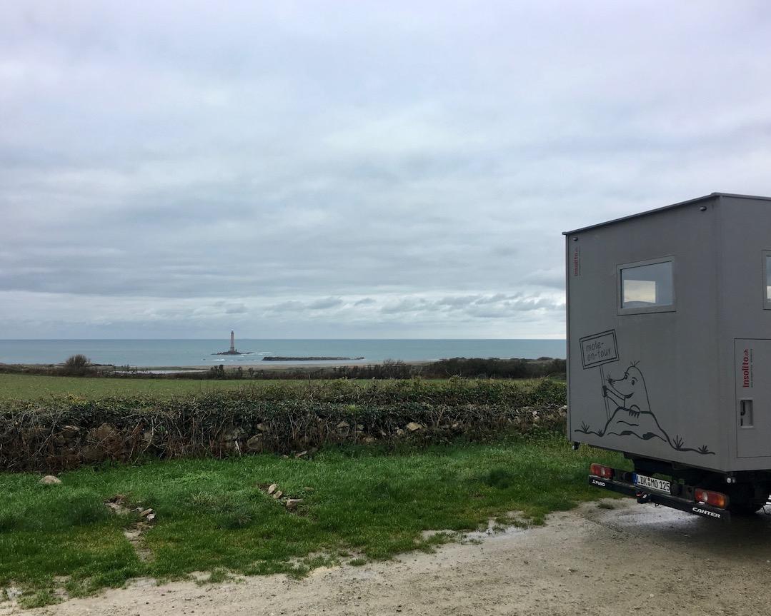 Wohnmobilstellplatz von mole-on-tour bei Auderville am Cap-La-Hague Cotentin Normandie Frankreich