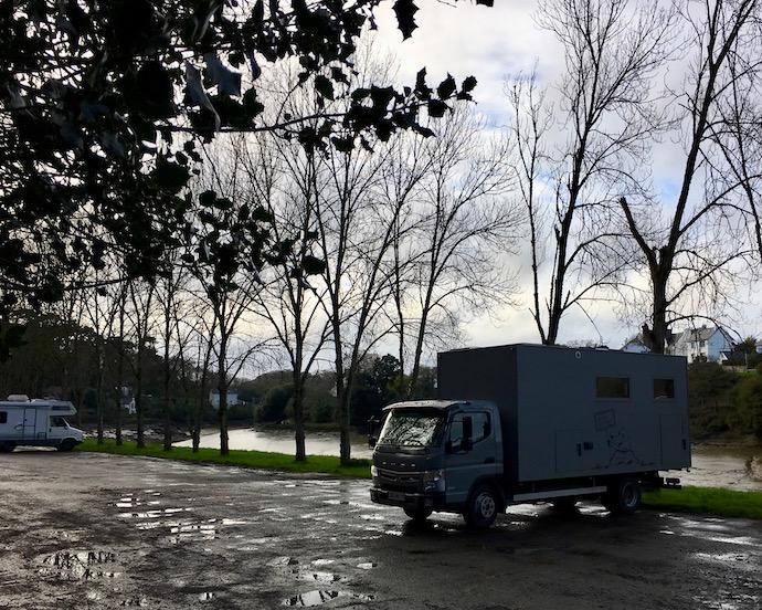 Wohnmobilstellplatz in Tréguier Bretagne Frankreich mole-on-tour