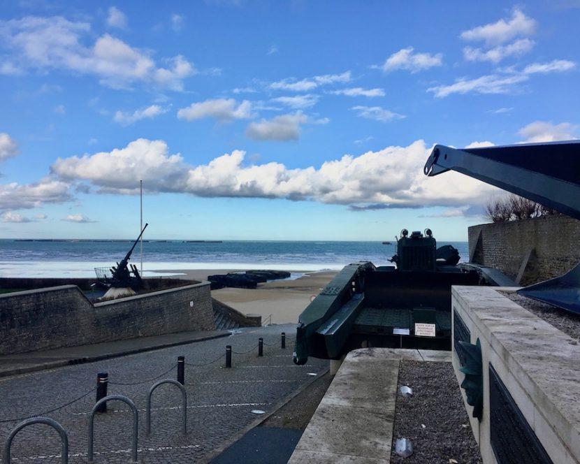 Strand Arromanches-les-Bains Normandie Frankreich