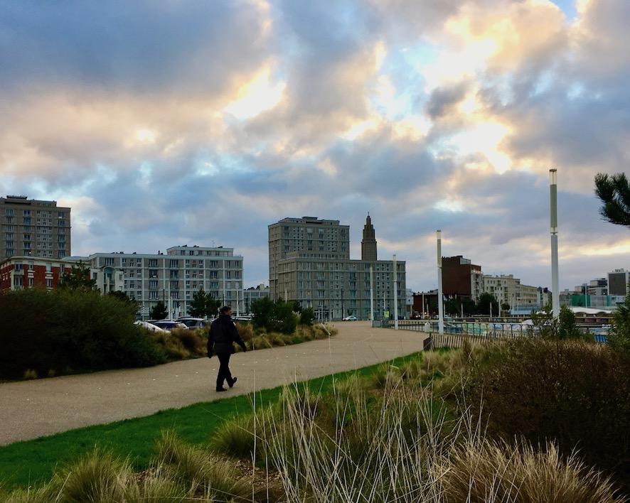 Strandpromenade Le Havre Normandie Frankreich Weltkulturerbe