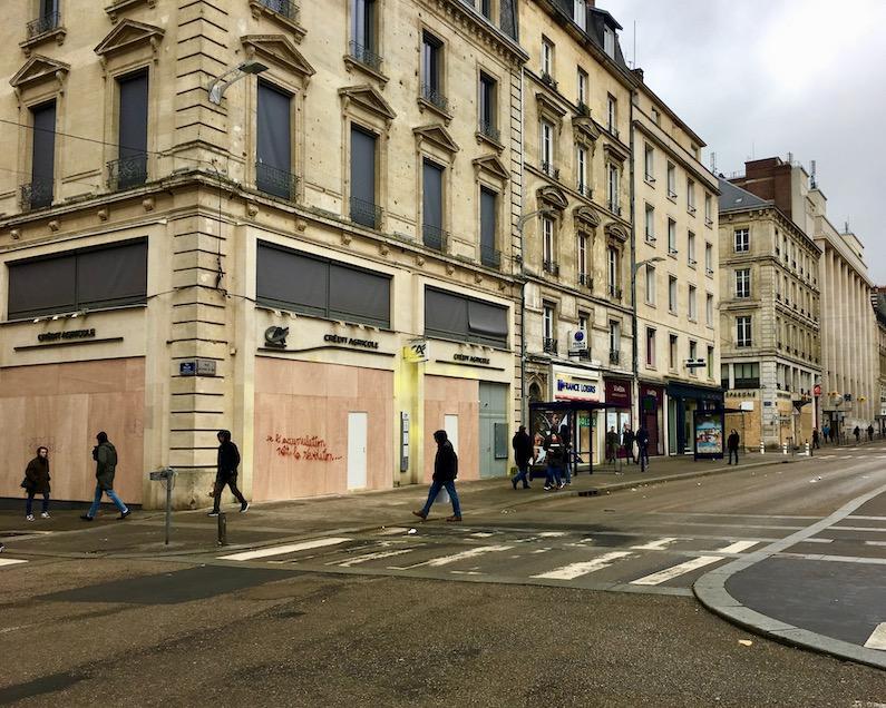 Vorbereitung gegen Proteste Gelbwesten Rouen Normandie Frankreich