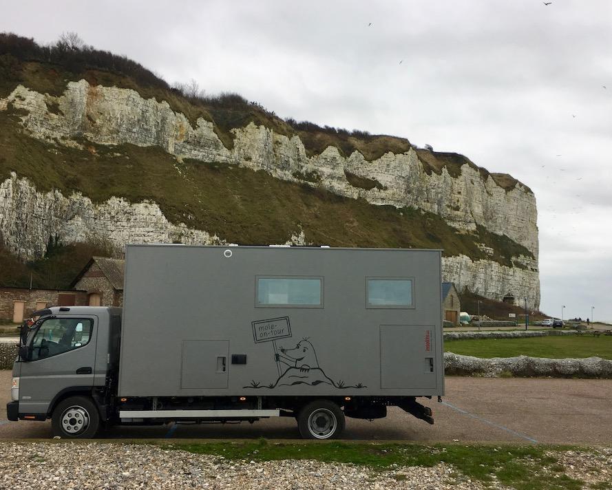 Wohnmobilstellplatz von mole-on-tour in Saint Valery-en-Caux Normandie Frankreich