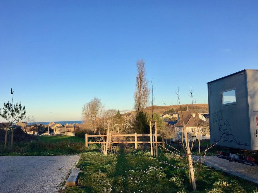 Wohnmobilstellplatz  mole-on-tour Port-en-Bessin Normandie Frankreich