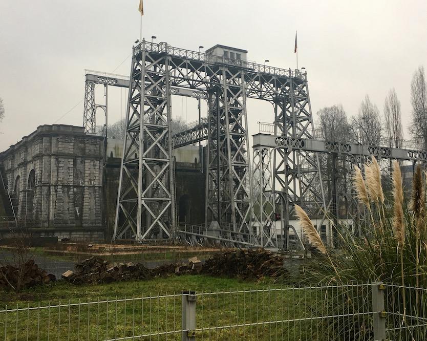 altes Hebewerk Strépy-Thieu am Canal du Centre Belgien Weltkulturerbe