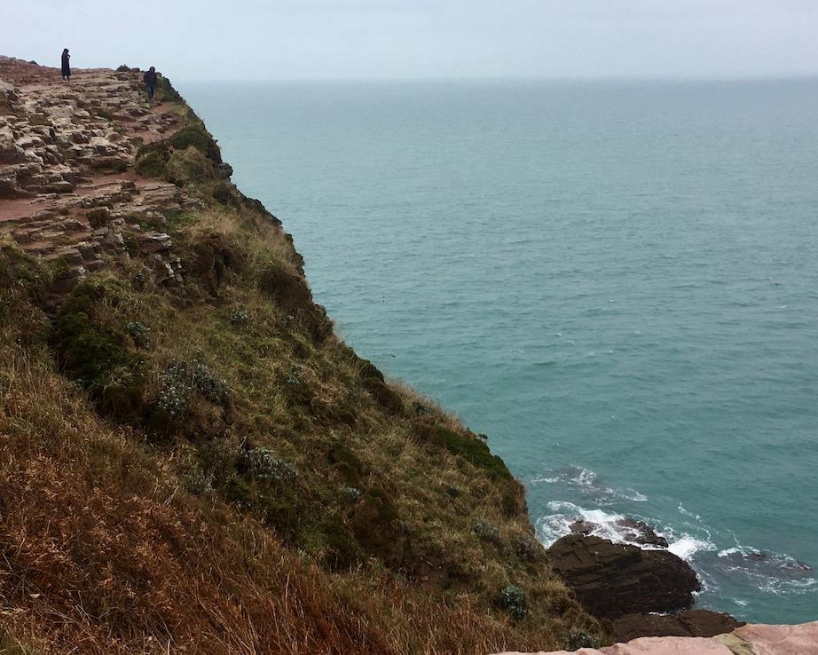 steile Küste Cap Fréhel Bretagne Frankreich