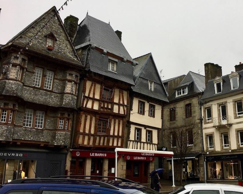 alte Fachwerkhäuser Lannion Bretagne