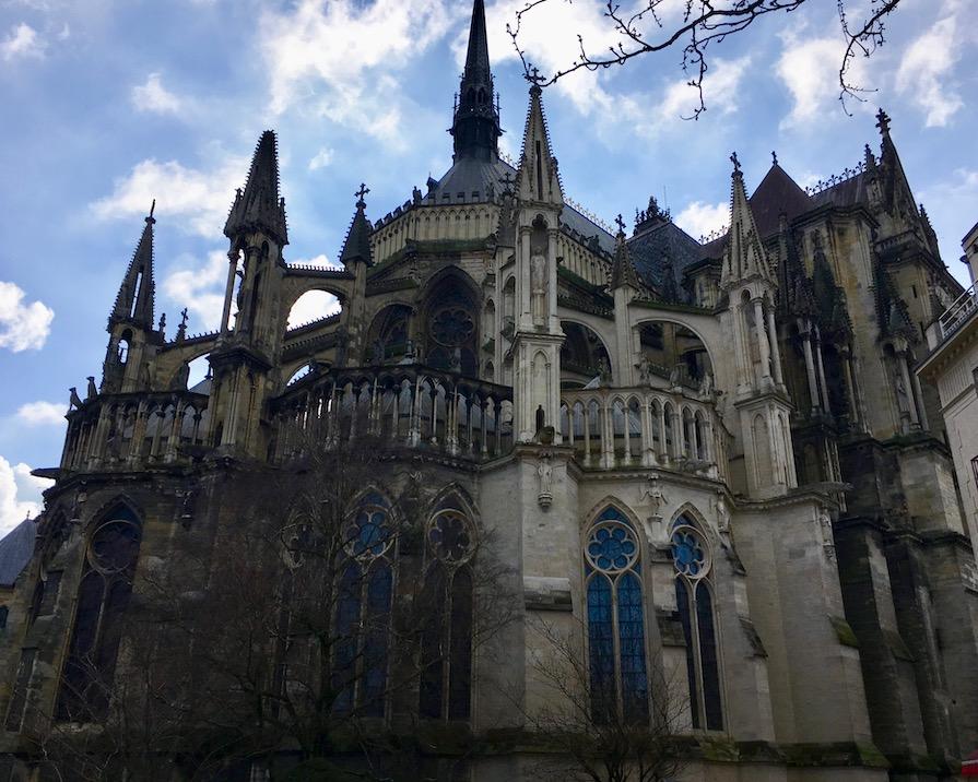 Chorhaupt Kathedrale Notre-Dame von Reims Bretagne Weltkulturerbe