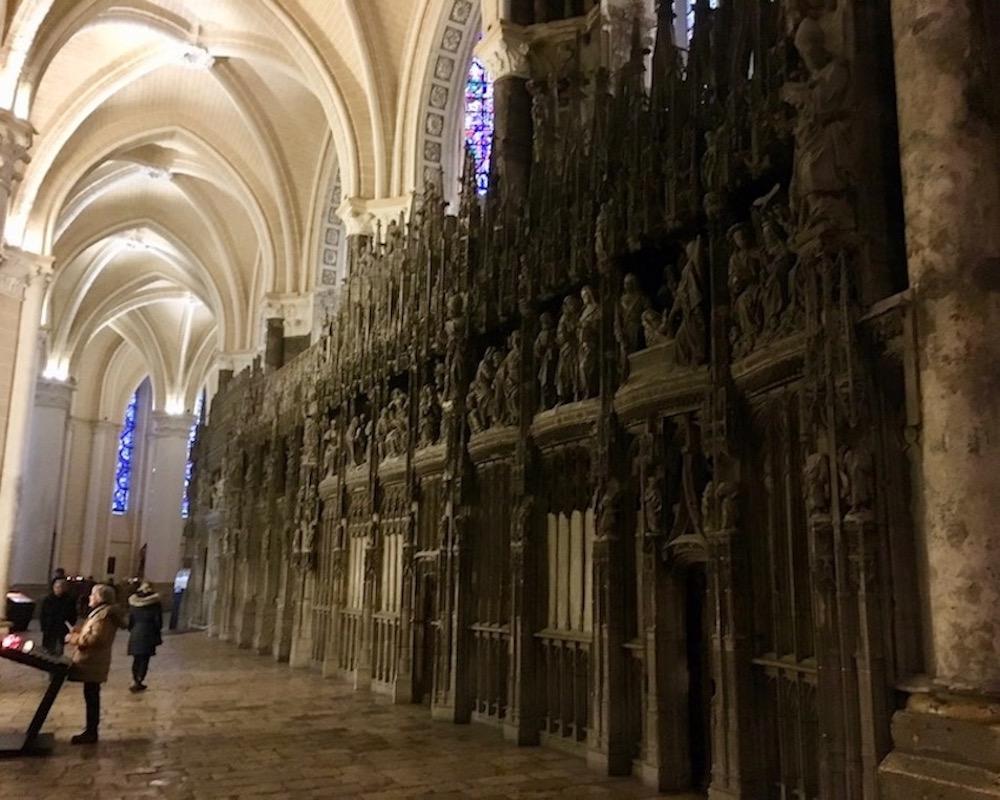 Chorumgang Kathedrale Notre-Dame Chartres Bretagne Frankreich Weltkulturerbe