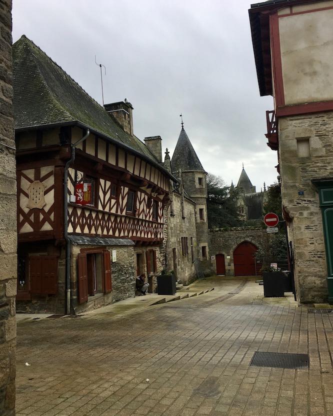 Josselin Alstadt Tor zum Schloss Josselin  Bretagne