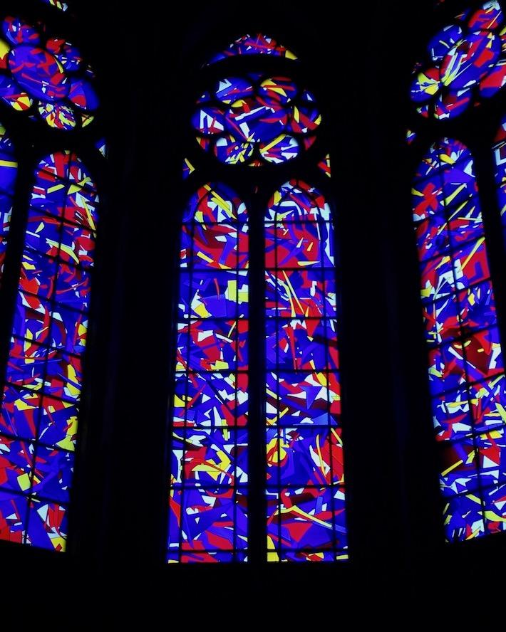 Kathedrale Notre-Dame von Reims Buntglasfenster von Imi Knoebels