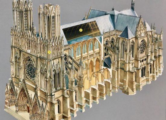 Modellbild Kathedrale Notre-Dame de Reims Frankreich
