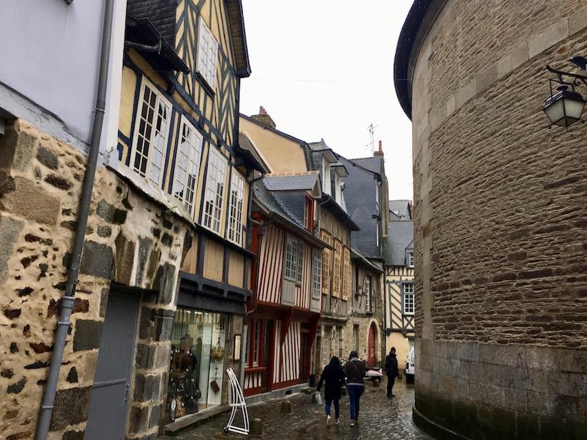 Rennes Bretagne Rue de la Psalette hinter der Kathedrale Saint-Pierre